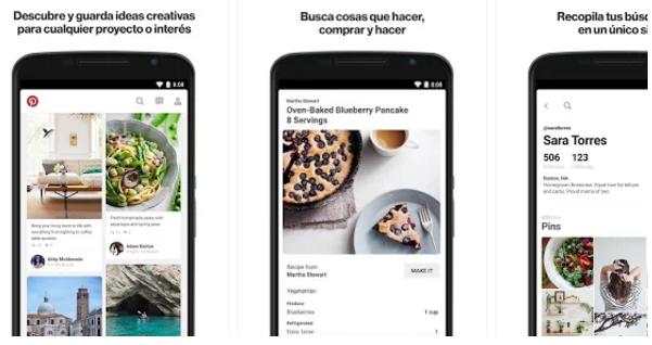 Pinterest, la aplicación para Android favorita de mujeres y hombres