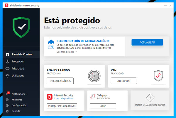 Antivirus Bitdefender Internet Security 2019 en español [REVIEW]