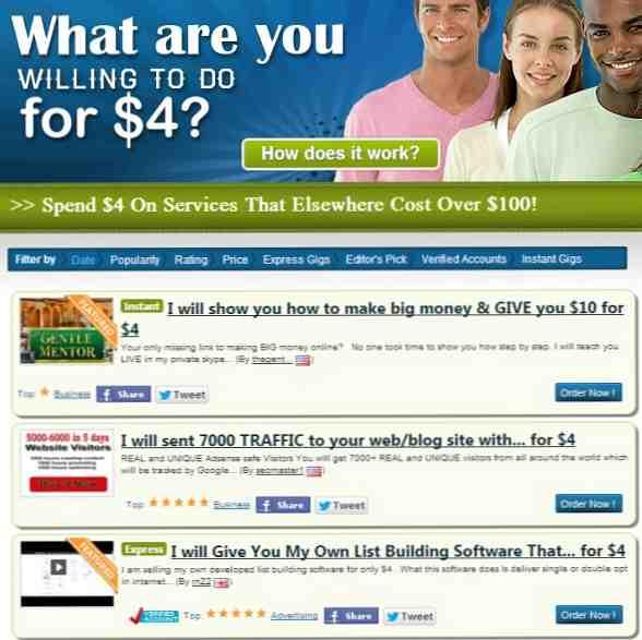 4 alternativas a Fiverr donde puede comprar y vender servicios en línea