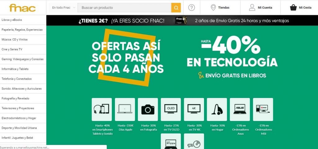 5 alternativas a Amazon para comprar online