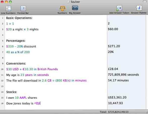 5 interesantes alternativas de calculadora para Mac OS X