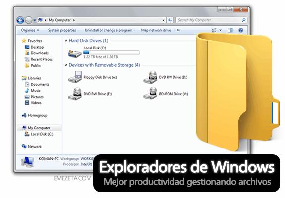 Alternativas divertidas y útiles para el Explorador de Windows