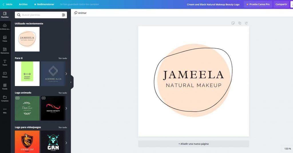Aplicación para crear un logo