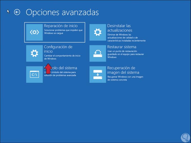 Cómo acceder a las opciones de inicio avanzadas en Windows 10