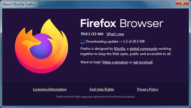 Cómo actualizar Firefox