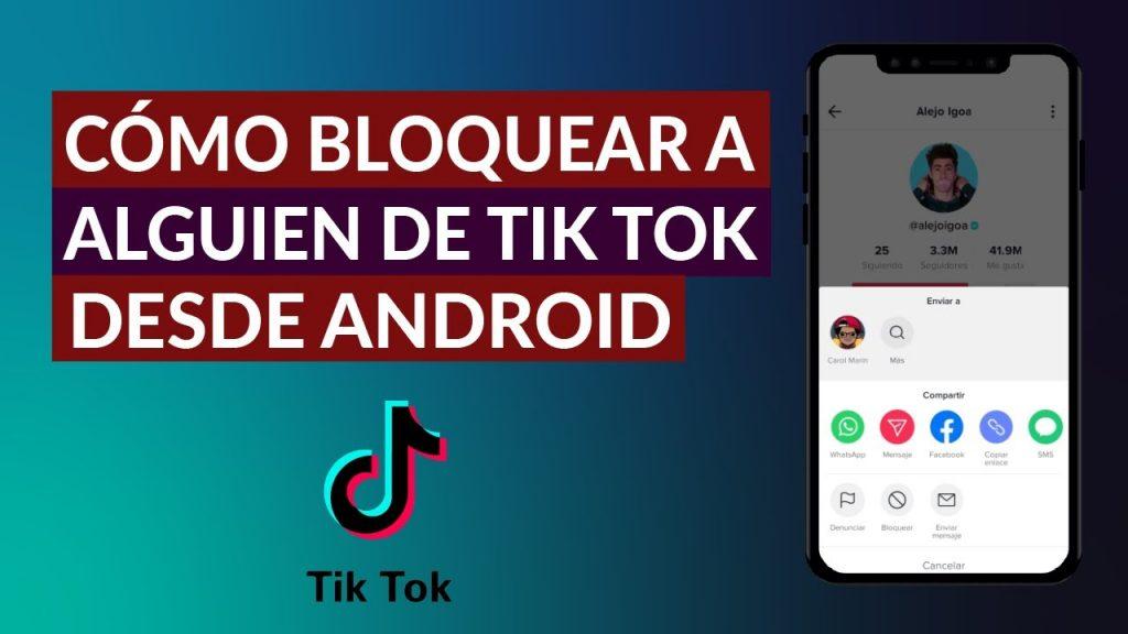 Cómo bloquear TikTok en Android