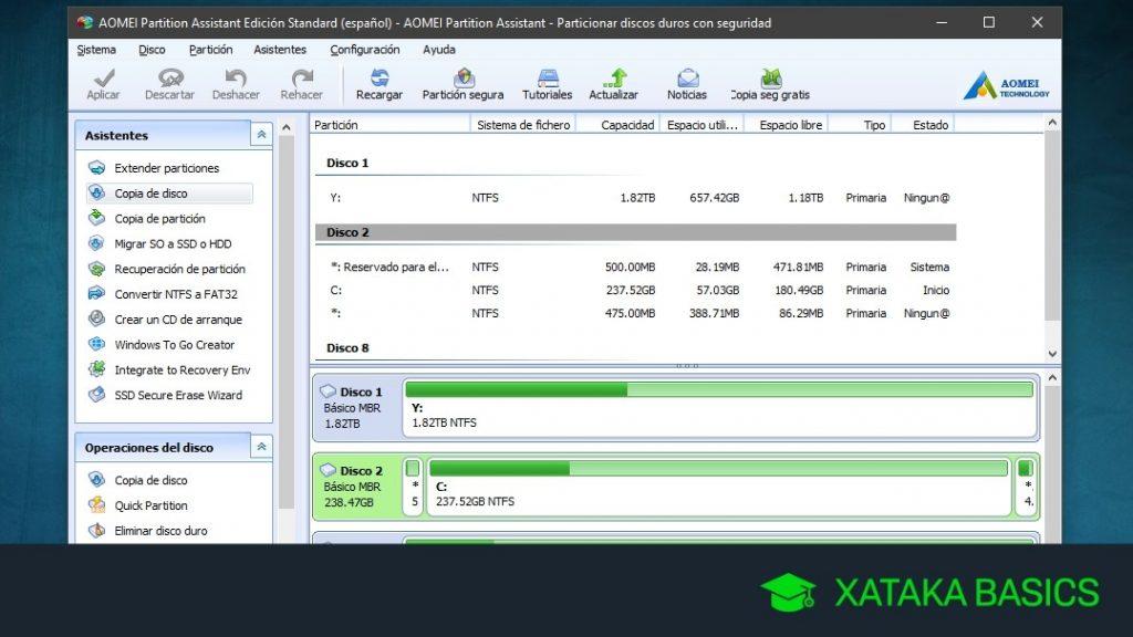 Cómo clonar un disco duro con Windows 10