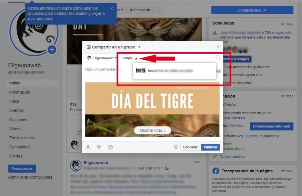 Cómo compartir la misma publicación en varias páginas de Facebook