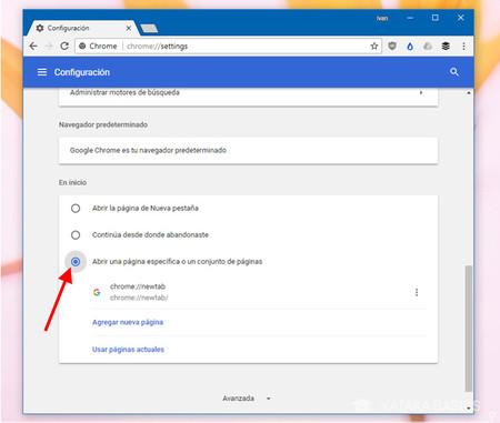 Cómo configurar un sitio web como página de inicio del navegador