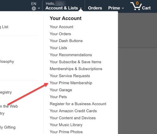 Cómo desactivar Amazon Prime