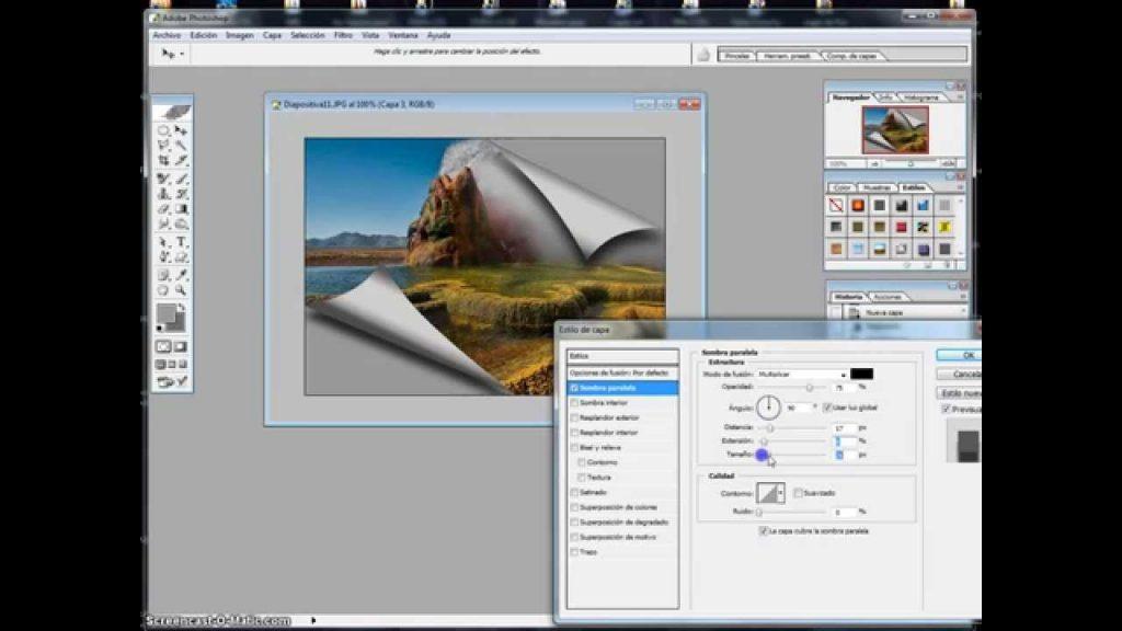 Cómo doblar una inscripción con Photoshop