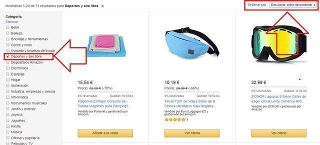 Cómo encontrar ofertas en Amazon