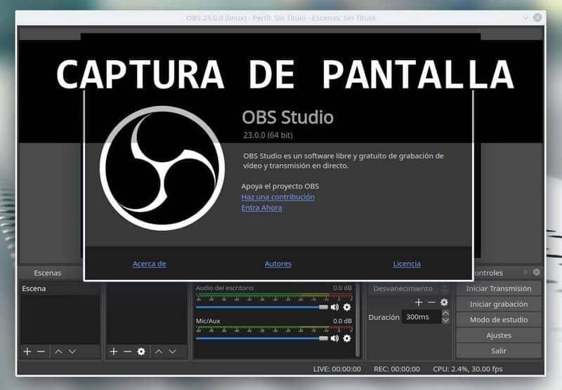 Cómo grabar la pantalla con OBS