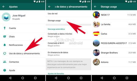 Cómo liberar memoria de Android con WhatsApp