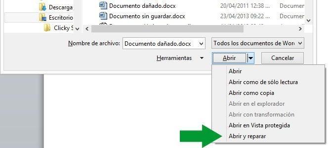 Cómo recuperar fotos y documentos dañados