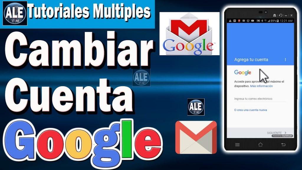 Cómo reemplazar la cuenta de Gmail en un dispositivo móvil