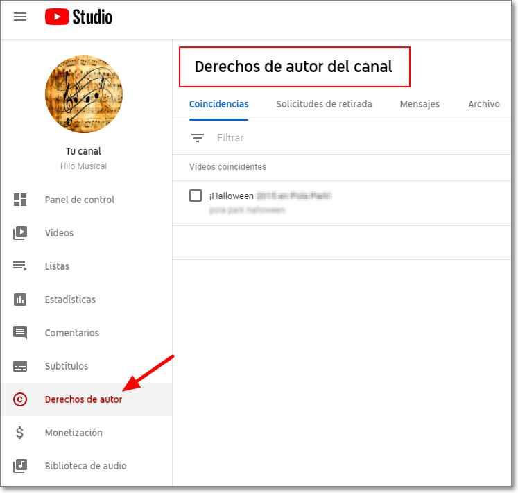 Cómo saber si un video tiene Copyright en Youtube