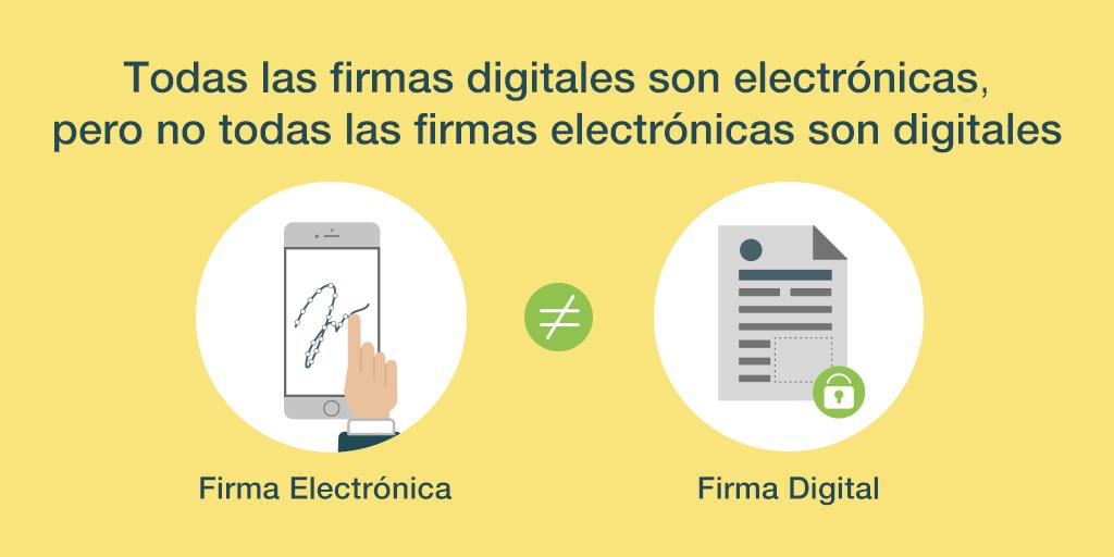 Diferencia entre firma electrónica y digital