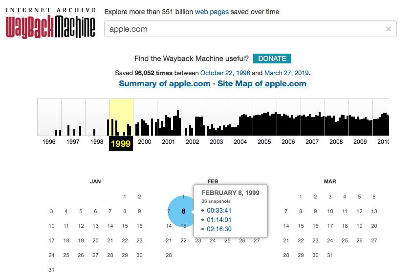 Los mejores sitios alternativos de Wayback Machine