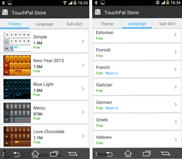 Touchpal X para Android: ¿una alternativa emergente para Swype y SwiftKey?